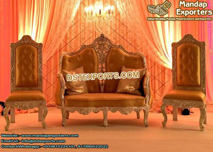 Asian Wedding Reception Stage Sofa Set