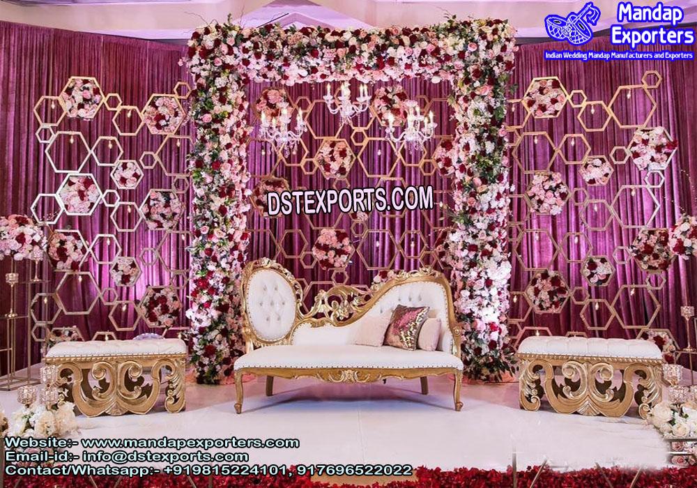 English Wedding Elegant Candle Back-Walls