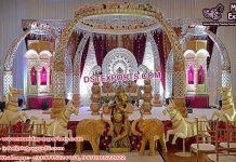 Indian Wedding Elephant Teeth Style Mandap