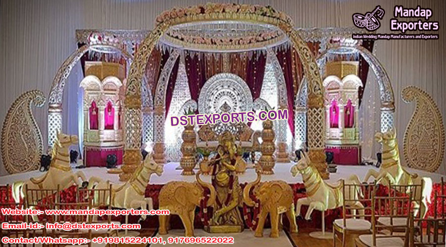Indian Wedding Elephant Teeth Style Mandap