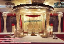 Gorgeous Palazzo Crystal Wedding Mandap