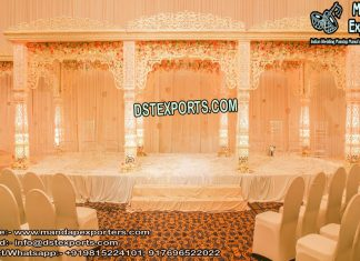 Grand Bollywood Wedding Fiber Mandap