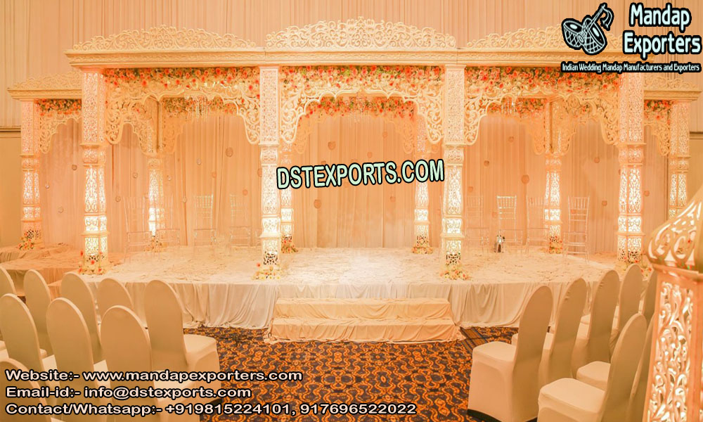 Grand Bollywood Wedding Fiber Mandap