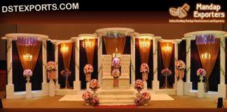 Grand Victorian Wedding Stage Setup