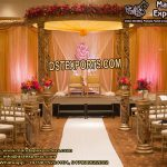 Hindu Wedding Fiber Crystal Mandap