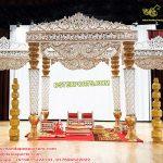Hindu Wedding Pearl White Fiber Mandap