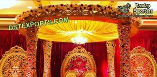 Indian Wedding Golden Delizio Mandap & Stage