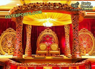Indian Wedding Golden Delizio Mandap & Stage