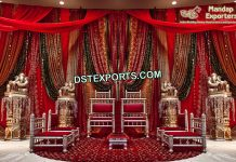 Indian Wedding Sankheda Mandap Furniture