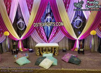 Indian Wedding Zari Work Backdrop Curtains