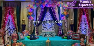 Muslim Wedding Mehndi Sangeet Stage Setup