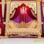 Muslim Nikah Stage Heavy carved Sofa Set