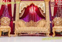 Muslim Nikah Stage Heavy carved Sofa Set