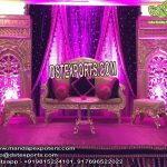 Muslim Walima Stage Decor with Back-frame