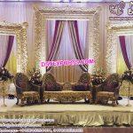 Muslim Wedding Stage Golden Frames