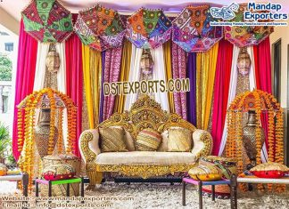 Punjabi Wedding Sangeet Stage Two-Seater
