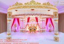 South Indian Wedding Crown Mandap