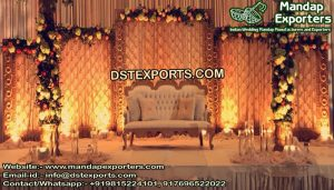Sparkling Stage Decor With Candle Back-Walls