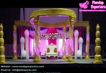 Stylish Wedding Fiber Crystal Mandap