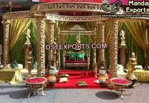Traditional Wedding Golden Mandap