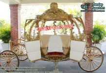 Wedding Golden Cinderella Horse Carriage