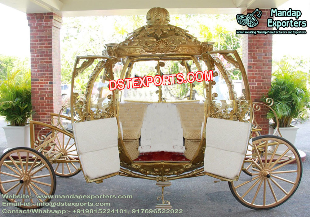 Wedding Golden Cinderella Horse Carriage