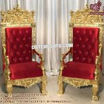Wedding Maharaja Gold Pleated Chairs