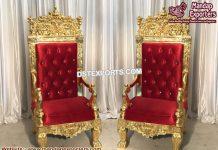 Wedding Maharaja Gold Pleated Chairs