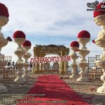 Wedding Walkway Pillars Cum Fountains