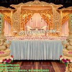 Wedding Wooden Dhnush Mandap UK