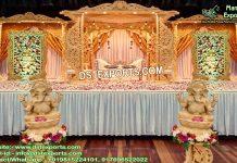 Wedding Wooden Dhnush Mandap UK