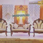 Asian Wedding Leather Tufted Stage Decor