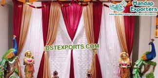 Designer Wedding Mehandi Stage Curtains