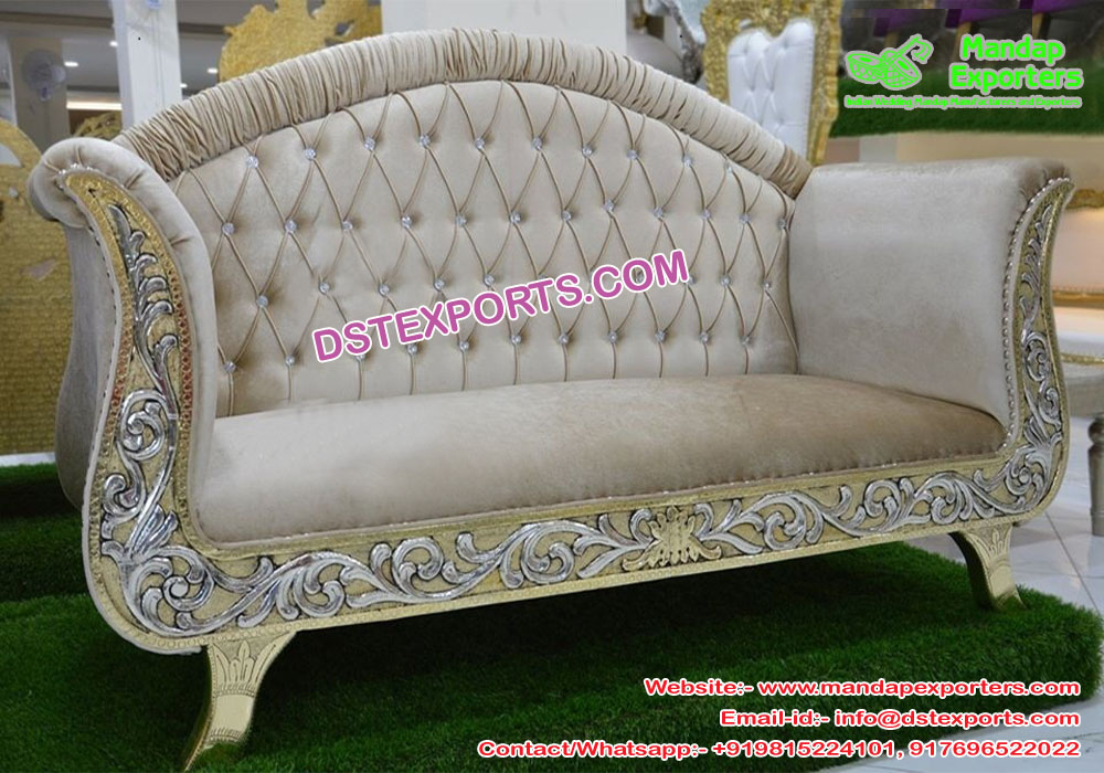 French Wedding Chaise Lounge Sofa Mandap Exporters