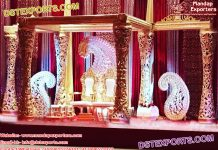 Golden Delizio Maharaja Wedding Mandap