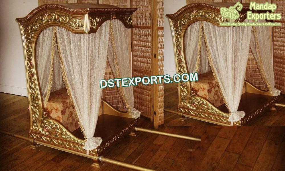 Golden Open Style Bridal Doli/Palanquins