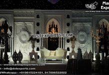 Grand Wedding Stage Fiber Back-Frame