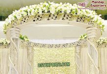 Indian Wedding Fiber Crystal Mandap Set