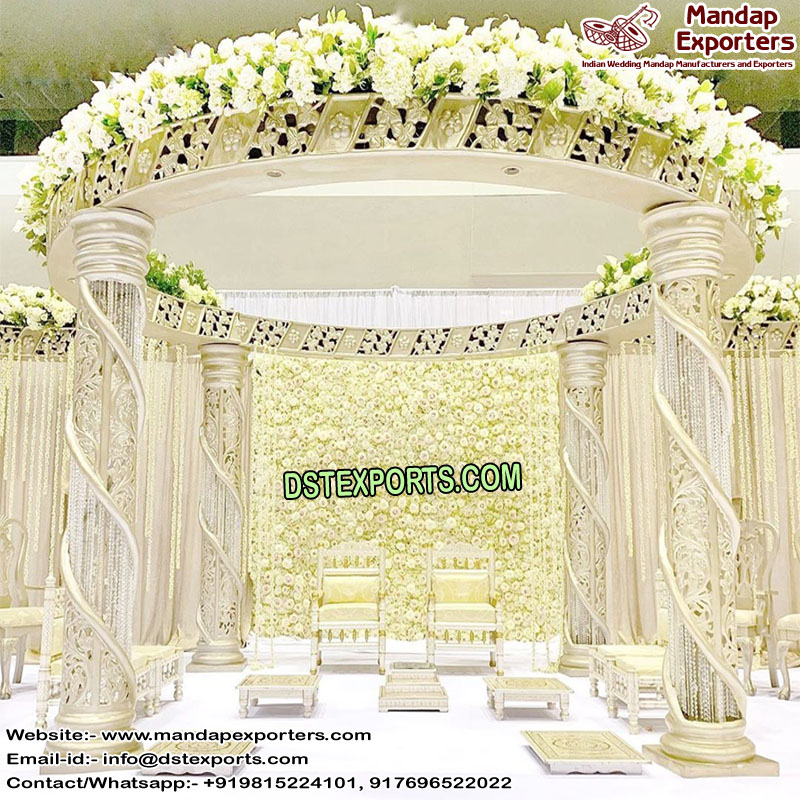 Indian Wedding Fiber Crystal Mandap Set