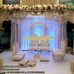 Indian Wedding Triple Pillar Wood Mandap