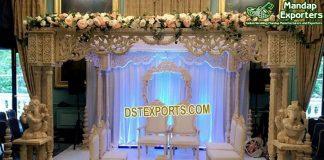 Indian Wedding Triple Pillar Wood Mandap