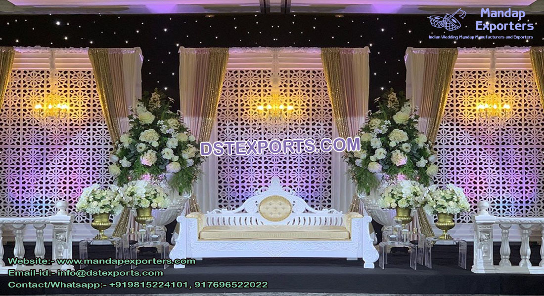 Modern Arabian Wedding Back Stage Frames