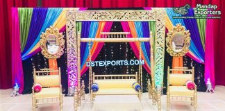 Pakistani Wedding Mehndi Theme Stage