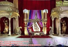 Rajwada Wedding Event Stage Decor Props