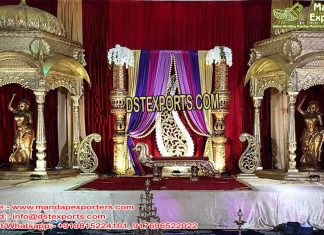 Rajwada Wedding Event Stage Decor Props