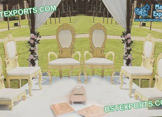 Royal Peacock Design Mandap Chair Set