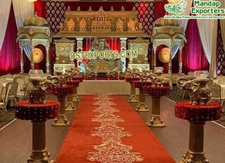 South Indian Wedding Grand Temple Style Stage