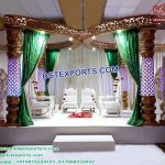 Traditional Butterfly Crystal Wedding Mandap