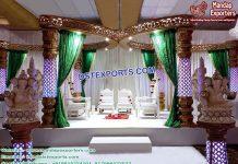 Traditional Butterfly Crystal Wedding Mandap