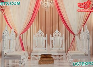 Traditional Wedding Low-Seating Vedi Chairs